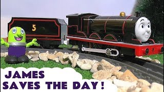 Thomas and Friends Toy Train James in Bat-James with Batman Thomas and the funny Funlings TT4U