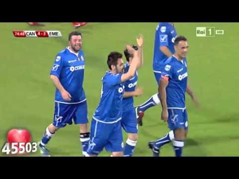 Antonio Maggio Goal Partita del Cuore Firenze 2014 Nazionale Cantanti Italiana
