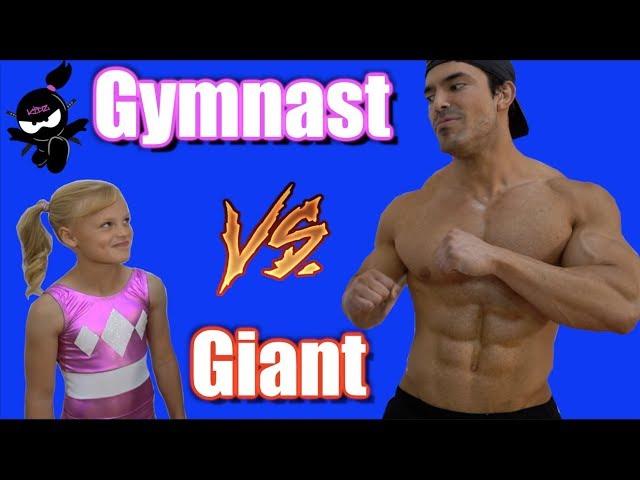 Gymnast vs Giant! Who is Stronger, Payton or the bodybuilder?