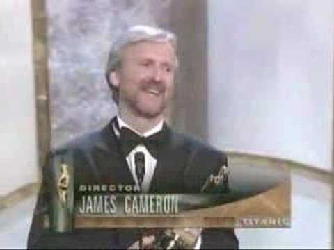 James Cameron winning an Oscar® for