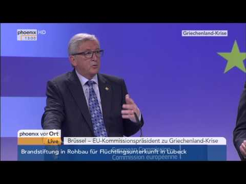 Griechen-Krise: PK von Jean-Claude Juncker am 29.06.2015