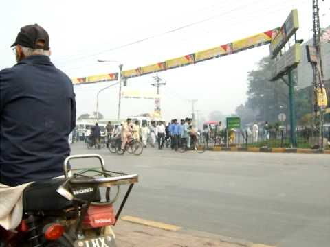 The road to Badshahi Mosque Lahore Pakistan