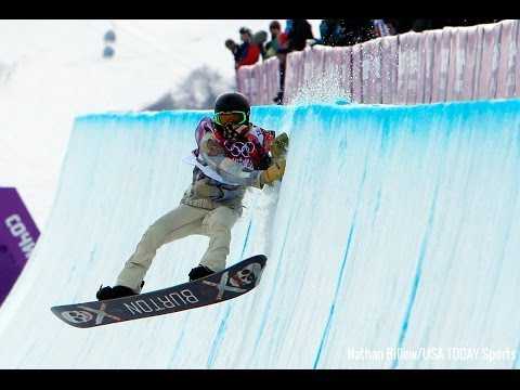 Shaun White crashed into the wall in halfpipe snowboarding | Sochi Olympics 2014