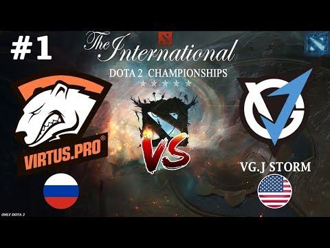 ВП долго ЖДАЛИ этой ЗАРУБЫ! | Virtus.Pro vs VGJ.Storm #1 (BO2) | The International 2018