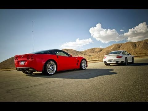 Monsters' Brawl! Corvette ZR1 vs Porsche 911 Turbo Music Videos