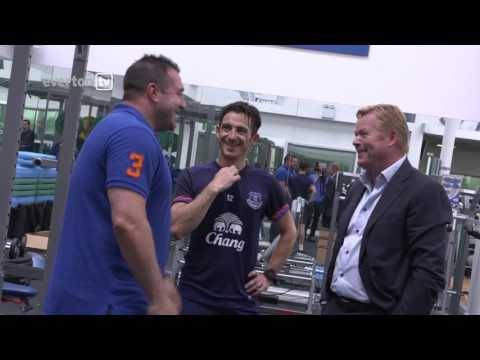 Exclusive behind the scenes footage as Ronald Koeman arrives at Everton