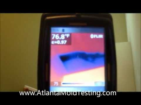 Atlanta Mold Testing Services Finds Plumbing Leak with Infrared Thermal Imaging Camera