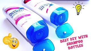 2 Easy DIY in 1 Shampoo Bottle Best Reuse Idea With Shampoo Bottle How To Recycle Shampoo Bottle