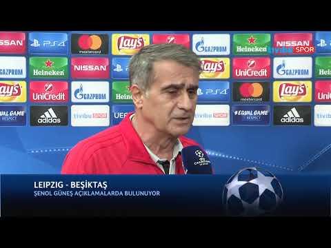 """Şenol Güneş: """"İyi başlayıp bugünlere geldik, böyle bitirmek istiyoruz"""" (Leipzig - Beşiktaş Maç Önü)"""