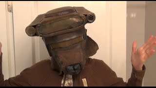 How to Part 1 make Princess Leia Bounty Boushh Hunter Helmet - DIY Starwars Costume