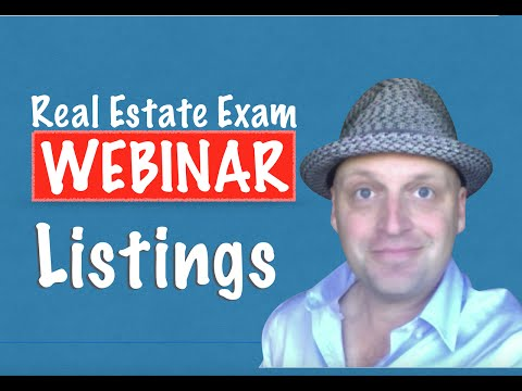 Real Estate Exam Webinar - Listings