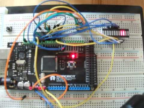 Bi-Color LED Bargraph controlled by Arduino and MAX7219