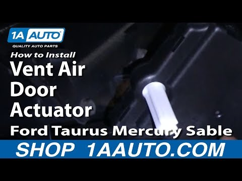 How To Install Replace Vent Air Door Actuator Ford Taurus Mercury Sable 96-07 1AAuto.com