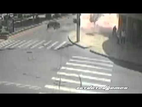 CCTV footage of a suicide bombing in Makhachkala, Russia. Plus aftermath.