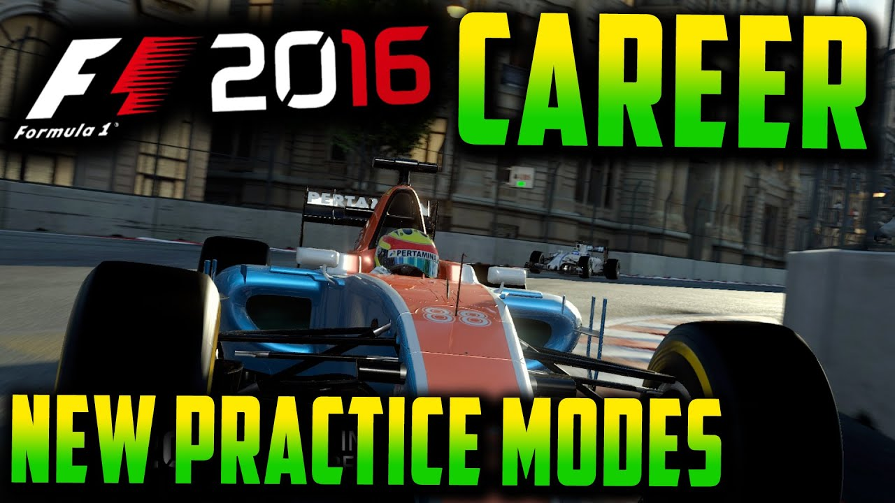F1 2016 CAREER MODE: NEW PRACTICE MODES, EARNING R&D XP?!