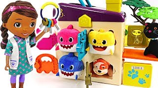 McStuffins and friends are locked in pet vet box! Baby Shark! Save us! #PinkyPopTOY