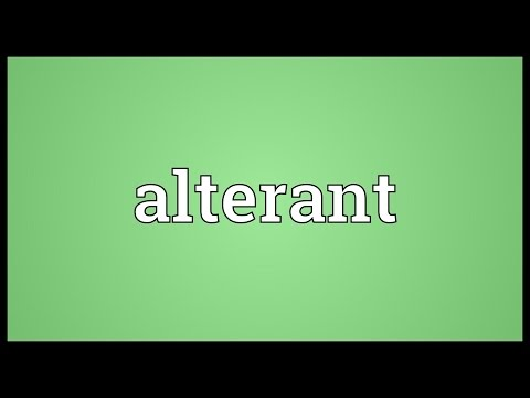 Header of alterant