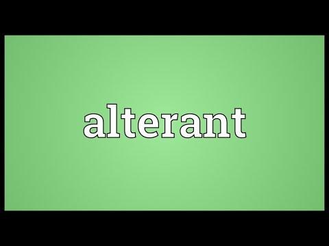 Header of alterant
