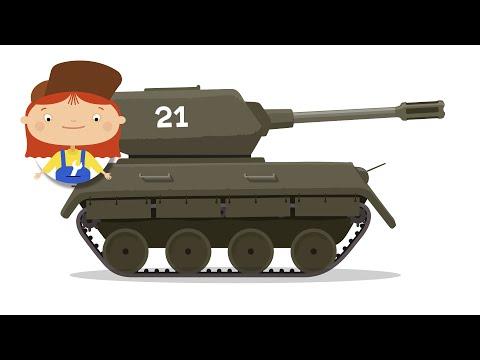Kids Animation & Tanks Cartoon. Car Doctor & Caterpillar. Kids Cartoon Movie