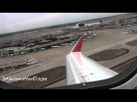 Air Canada Jazz Crj-700 Takeoff from Dallas/Fort Worth International Airport HD