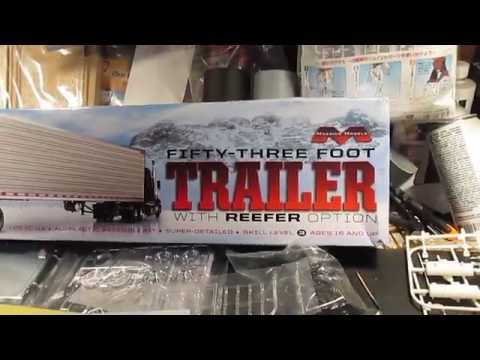 1/25 Moebius Models 53 foot trailer kit review
