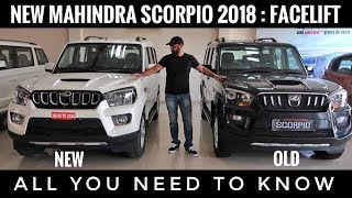 NEW MAHINDRA SCORPIO 2018 FACELIFT S11 NEW ENGINE, FEATURES