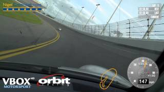 Porsche supercup crash - Daytona VBOX HD video