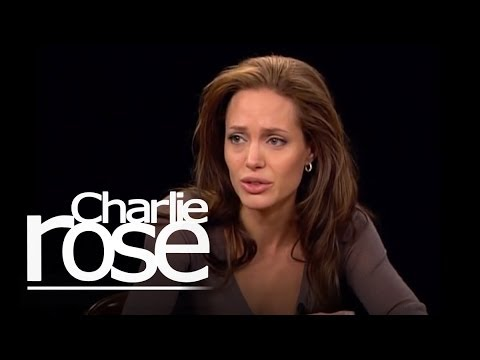 Angelina Jolie talks with Charlie Rose