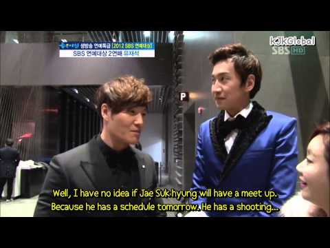 [EngSub] Kim Jong Kook & Lee Kwang Soo Interview After SBS Ent. Awards
