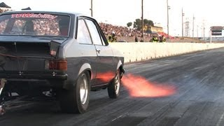 13B turbo rotary Ford Escort MkII - FAST!