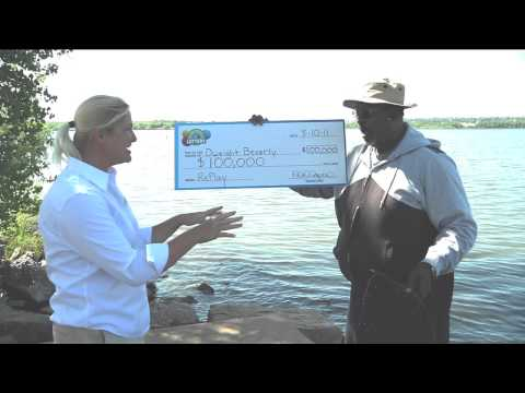 Dweight Beverly $100,000 Second Chance Drawing Winner - Have you ever been surprised with a giant check while you were fishing?