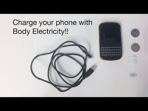 Charge your phone with body electricity!!