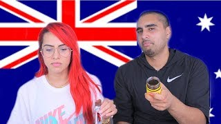 TASTE TEST | CANADIANS TRY AUSTRALIAN SNACKS...Vegemite made us throw up..... | BodmonZaid