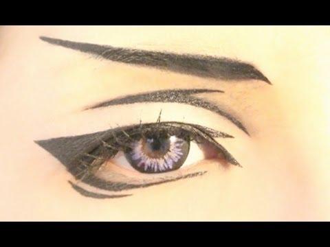 Anime Eyes Makeup Cosplay Tutorial Anime Eye Makeup 19