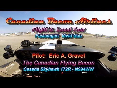 Title: Canadian Bacon Airline Flight 2 - Local Tour with Co-worker
