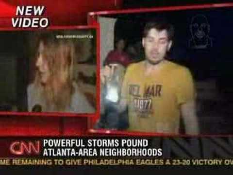 Tornado in newnan 01/07/07 CNN coverage