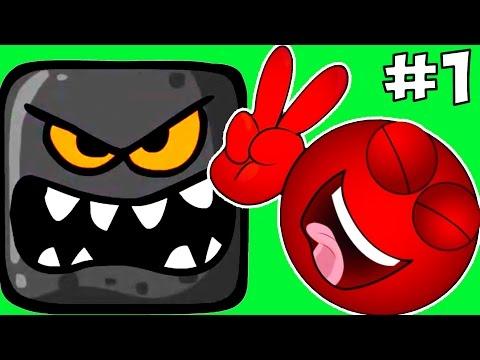 Прохождение Игры Красный Шарик Против Черного Квадрата.Red Ball 4 Зеленые Холмы.Детские ИГРЫ
