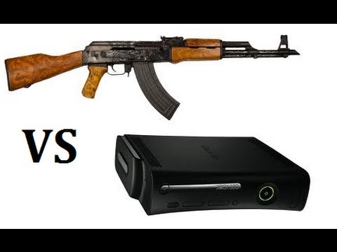 HD: AK47 vs Xbox 360 Elite Video