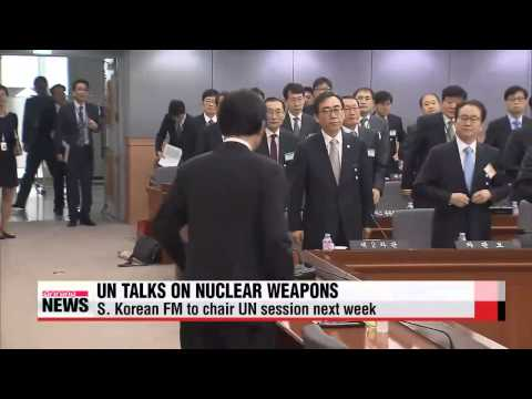 South Korean foreign minister to chair UN session on nuclear weapons