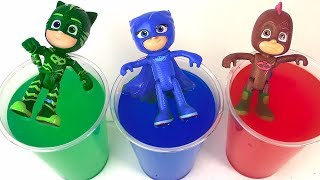 Learn Colors PJ Masks Toys Transform into different Colors! Finger Family Song for Kids