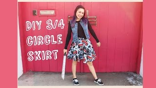 How to Sew: 3/4th Circle Skirt | Crafty Amy