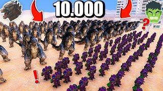 10.000 GODZİLLA VS 5 HULKBUSTER! 😱 - Süper Kahramanlar