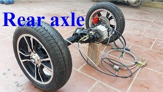 TECH - How to make electric car with oil disc brakes - Rear axle of tram