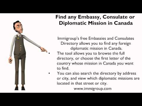 Find any Embassy, Consulate or Diplomatic Mission in Canada
