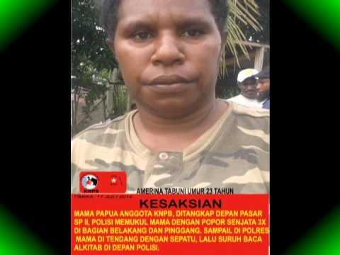 Pelanggaran Ham, Kekerasan Tni Polri Terhadap 25 Aktivis Knpb Timika Papua video