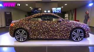 WOW* TV : Audi TT (3rd generation) covered with 27.000 chocolates (Interieur Kortrijk 2014)