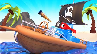 Super Truck is a Pirate Truck and Save the Babies  - Carl the Super Truck - Car City ! Cars cartoon