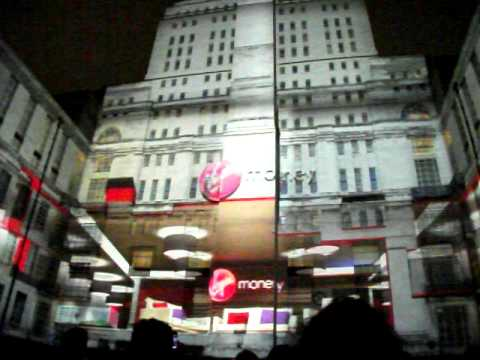 Virgin Money - Richard Branson - Senate House Advert Projection