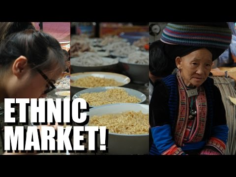 VIETNAM: Eating and Exploring an ETHNIC MARKET. Meo Vac, Ha Giang