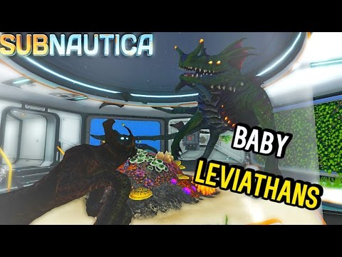 Subnautica - CAGED BABY LEVIATHANS, NEW SEA EMPEROR ANIMATIONS & SEA DRAGON BIG AS MAP? ( Gameplay )